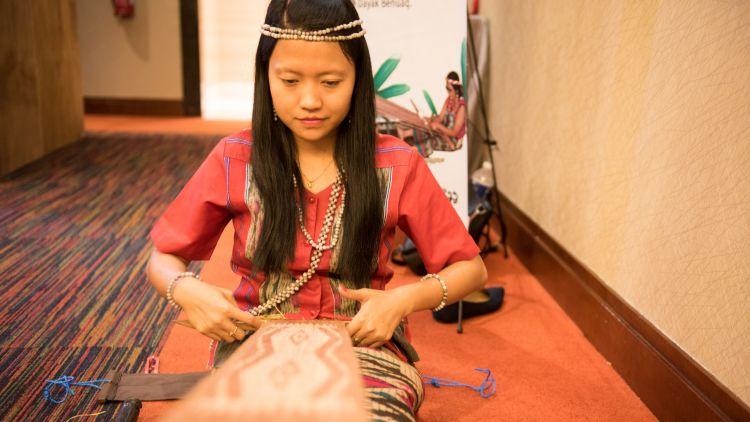 Tilita Renata, a member of Indonesia's indigenous Dayak community and an artisan. Image: Coopita